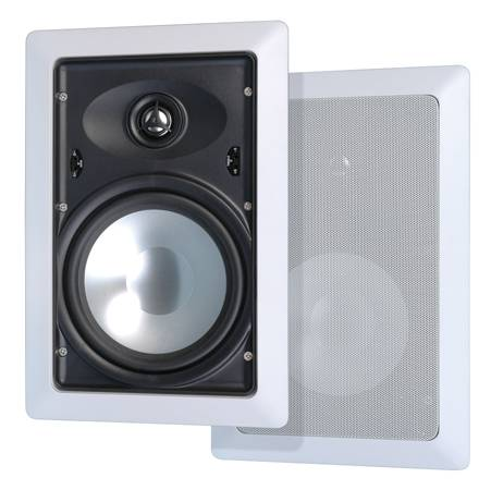 Stellar Labs  8'' In Wall Speaker Pair Two-Way Aluminum Cone