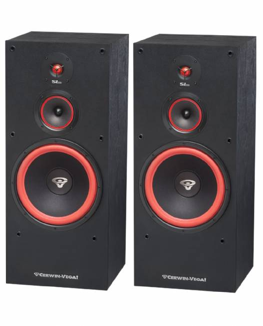 "Cerwin-Vega SL-12 12"" 3-Way Floor Tower Speaker, 300 Watts  - Pair"