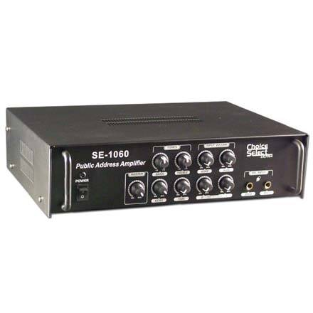 Choice Select Ultra SE1060 PA Amp 45W RMS 2mic/2 Line in 70/100V