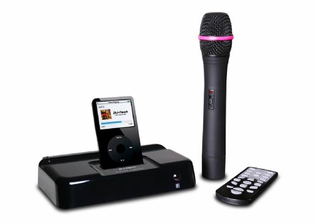DJ Tech Karaoke System iPod includes 1x VHF Wireless Mic. Video Output