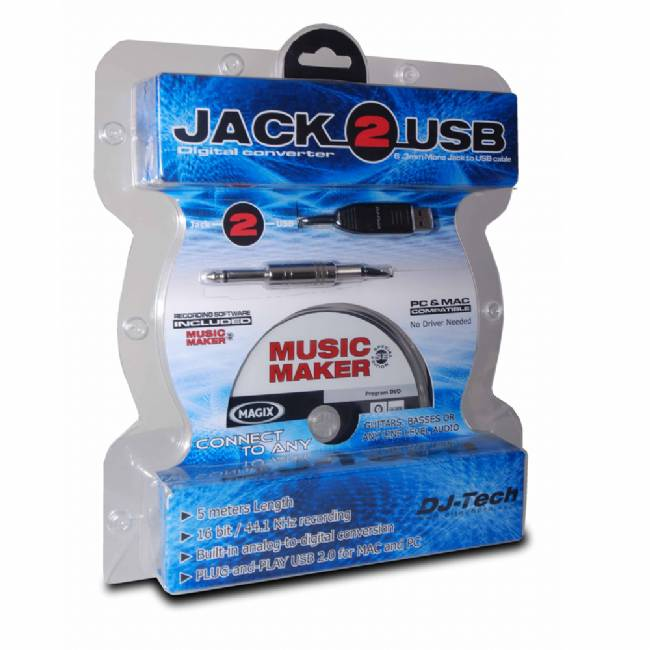 DJ TEch Jack to USB cable with recording Software