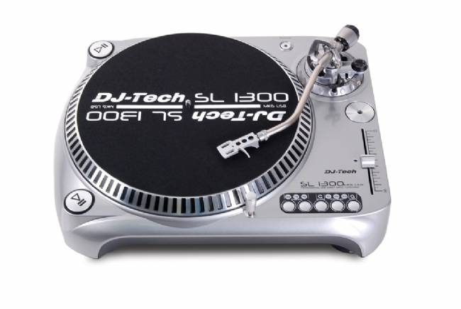 DJ Tech Direct Drive USB Turntable with 50% Pitch Silver